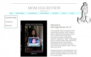 Screen Capture of Web page for Mom Egg Review journal, featuring the cover of volume 12