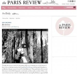 Paris Review Screen Capture of Borderline Post