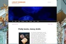 Lesley Wheeler Blog Screen Shot with Jelleyfish and poem post