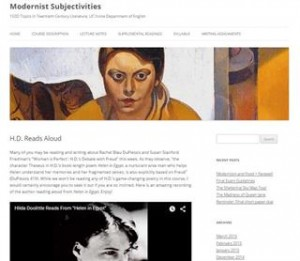 Course Web page for Modernist Subjectivities at UC Irvine