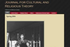 Screen Capture of the Journal for Cultural and Religious Theory