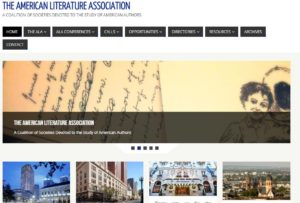 Screen Capture of the Home Page of the American Literature Association Web page