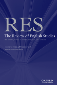 Cover image of The Review of English Studies