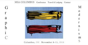 Web site for the MSA 2018 conference in Columbus, Ohio